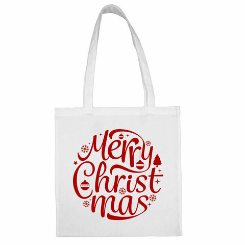 Merry Christmas Totebag Snow White / Both Side PrintBee Free Prints