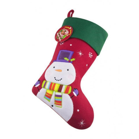 Personalised Printed Luxury Christmas Stocking Snowman ChristmasBee Free Prints