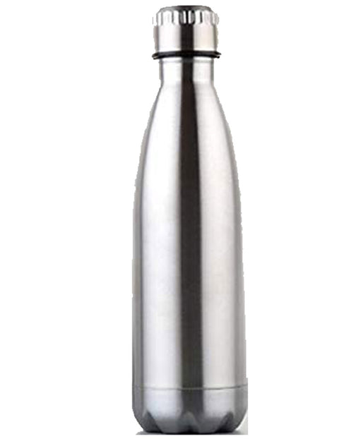 Personalised Stainless Steel Silver Water Bottle With Name Print One Size / Silver / MattBee Free Prints