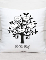 Personalised Mothers Day Family Tree Cushion Gift