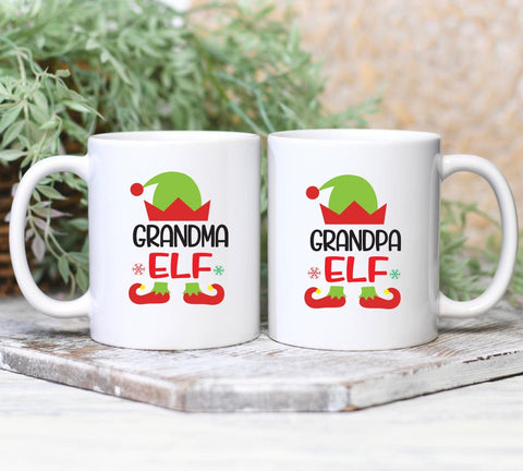 Grandparents Elf Mug set