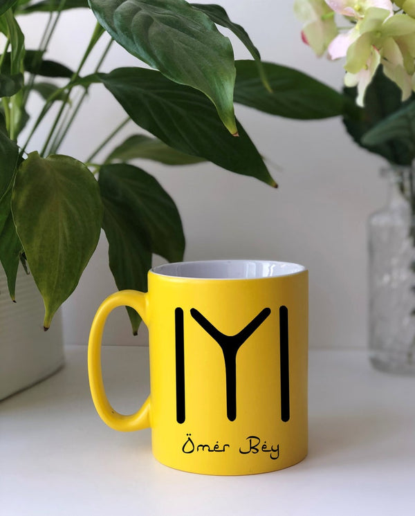 Personalised Ertugrul Theme Kayi Tribe logo mug Eid gift Yellow / Kayi Logo and NameBee Free Prints