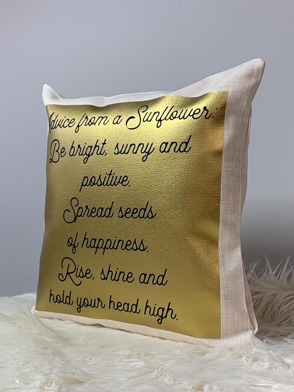 'Mum' Mother's Day Sunflowers Wreath Cushion With Poem Cushion With FillingBee Free Prints