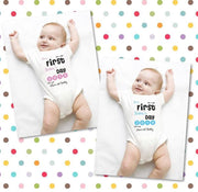 Personalised 1st Father's Day Baby Bodysuit Bee Free Prints