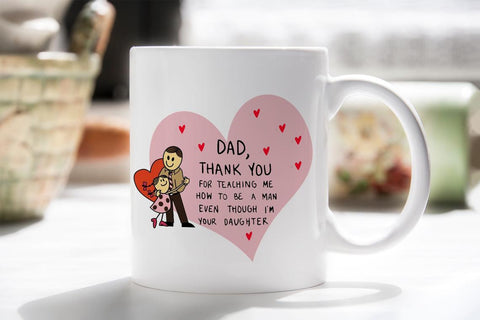 Thank You Dad For Teaching Me Mug Thank You For Teaching Me DadBee Free Prints