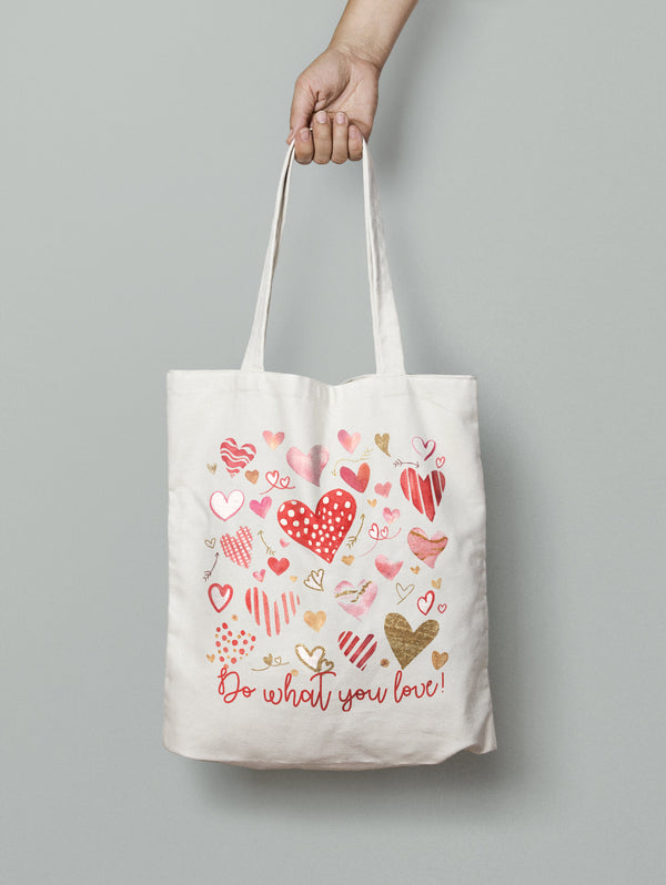 'Do What You Love !' Tote Bag Bee Free Prints