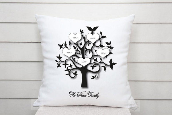 Personalised Family Tree Cushion Gift 48X48cm / Cushion With CoverBee Free Prints