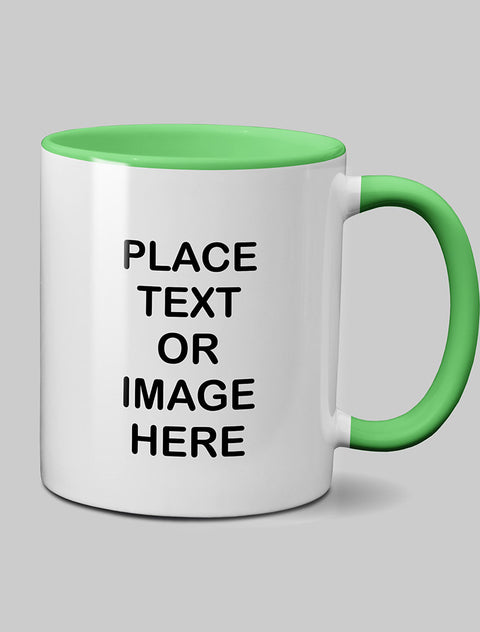 Mother's Day 'Mama Llama' Mug Coloured Inside Light Green MugBee Free Prints