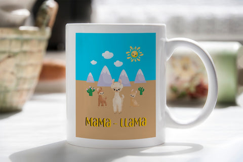 Mother's Day 'Mama Llama' Mug White MugBee Free Prints