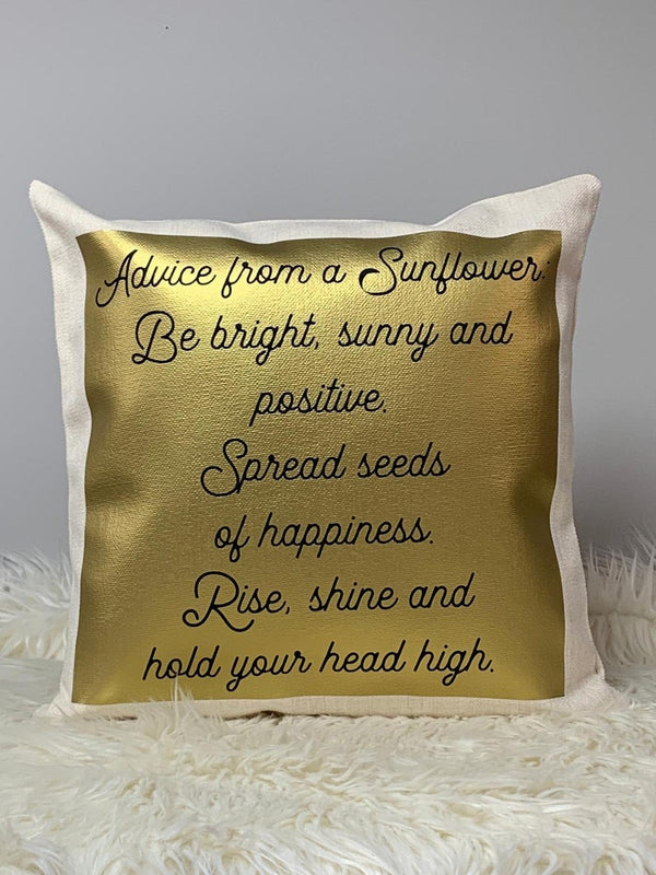 'Mum' Mother's Day Sunflowers Wreath Cushion With Poem Bee Free Prints
