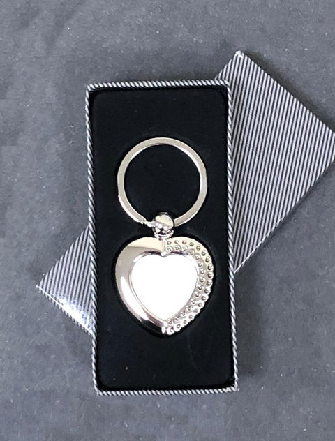 Personalised Keyring Heart Shaped KeyringBee Free Prints