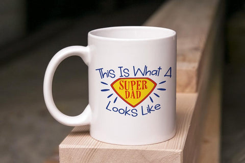 This Is What A Super Dad Looks Like Mug Bee Free Prints