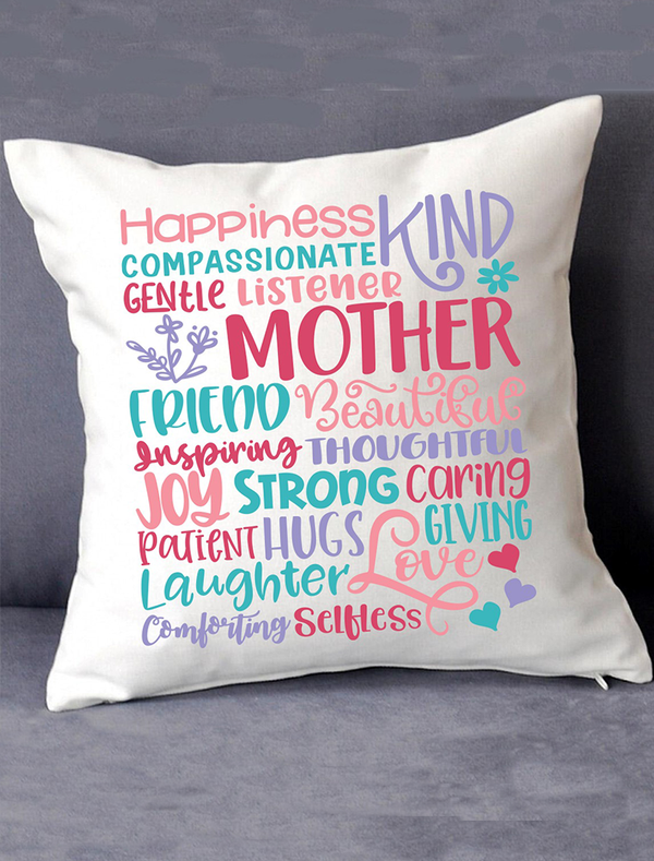 Mother's Day 'Word Art' Cushion Bee Free Prints
