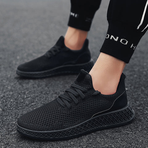 Black Lightweighted Athletic Relaxing Shoes