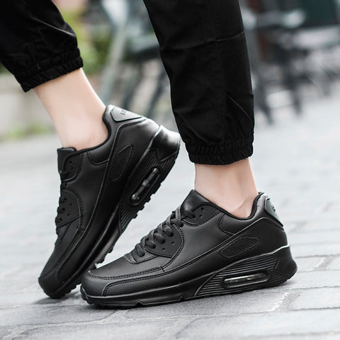 Men Athletic Black Running Shoes