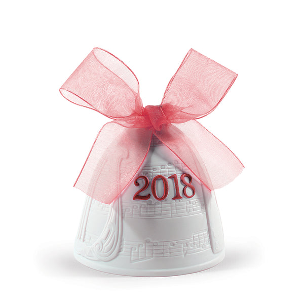Lladro 2018 Christmas Bell Re-Deco Red 01018439