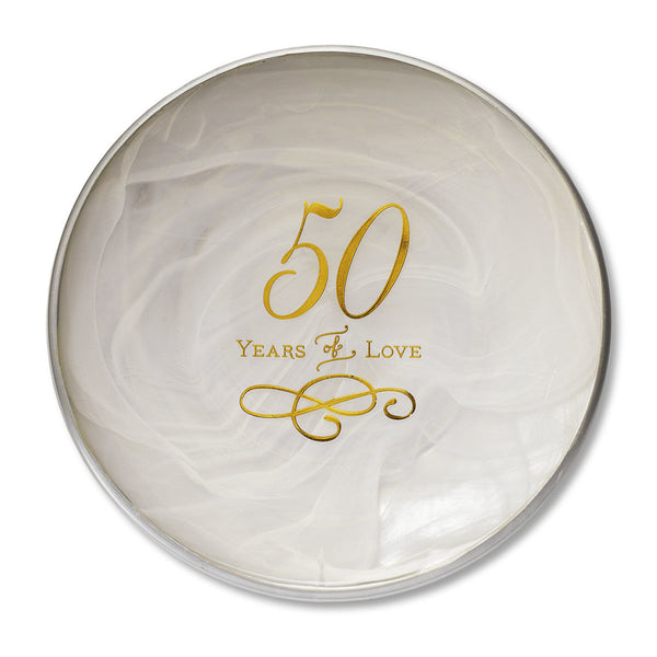 Demdaco 50th Anniversary Glass Decorative Plate 1003170051