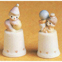 Precious Moments Clowns - Set Of 2 Thimbles 100668