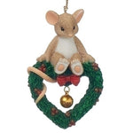 Charming Tails Mouse On Wreath 2017 Dated Ornament 130448