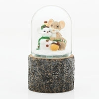 Charming Tails Mouse and Snowman Glitter Dome 131123