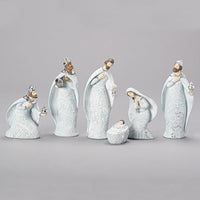 Christmas Soapstone Look Nativity 6 pcs 131261