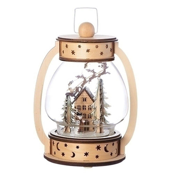 Christmas LED Lantern w/Santa Over House 131976