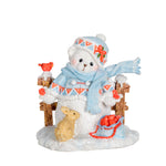 Cherished Teddies 2018 Charlotte - Snowbear by Fence 132074