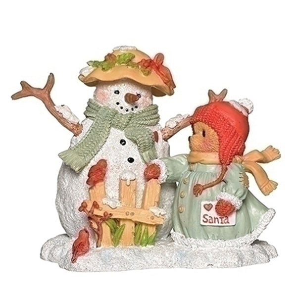 Cherished Teddies Betty w/Snowman & Fence 132848