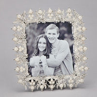 Rhinestone and Pearl Crown Photo Frame 13997