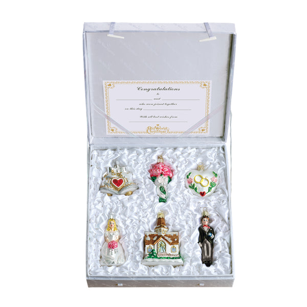 Old World Christmas Wedding Collection - 6 Piece Set 14011