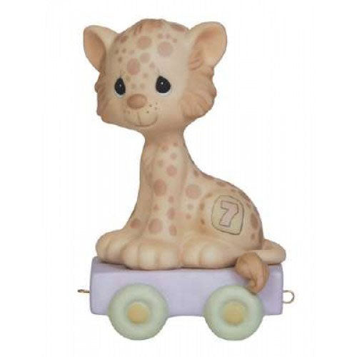 Precious Moments Birthday Train Leopard Age 7 142027