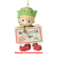 Precious Moments Joy, Peace & Christmas Cheer In Here Ornament 161037