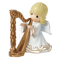 Precious Moments Angel Playing Harp Musical 161108