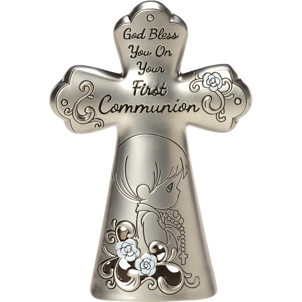 Precious Moments God Bless - First Communion Cross Boy 163512