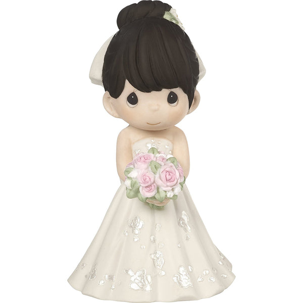 Precious Moments Bride Black Hair Light Skin 172063