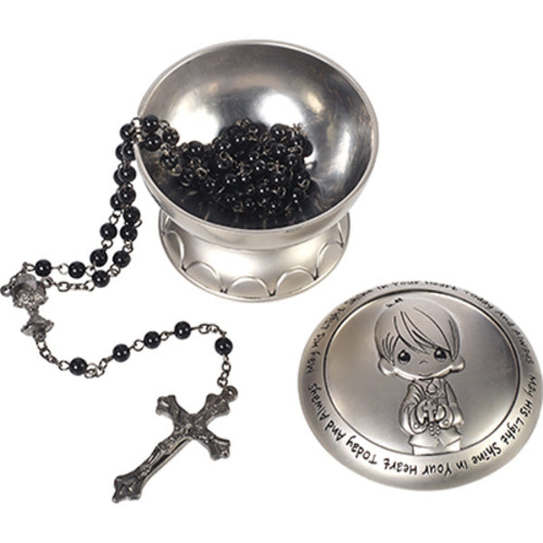 Precious Moments Boy Rosary Covered Box 172410