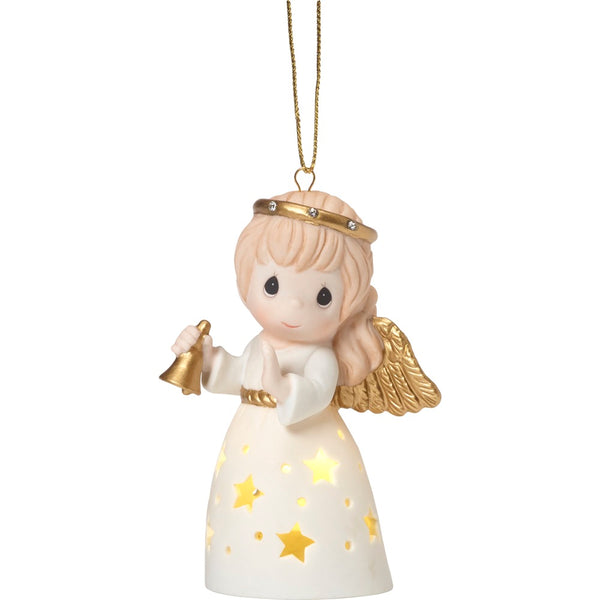 Precious Moments LED Pierced Angel With Bell 181031