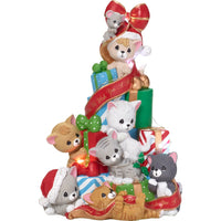 Precious Moments Cats & Mouse LED Musical Christmas Tree 181111