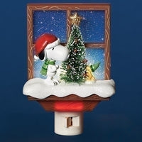 Peanuts Snoopy & Woodstock Christmas Night Light 30276