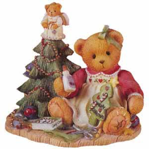 Cherished Teddies Lynn With Angel Tree Topper 310735