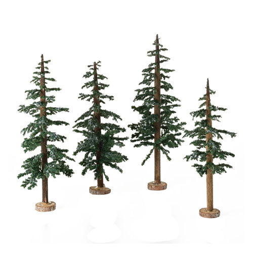 D56 Winter Lodge Pines, Set Of 4 4025363