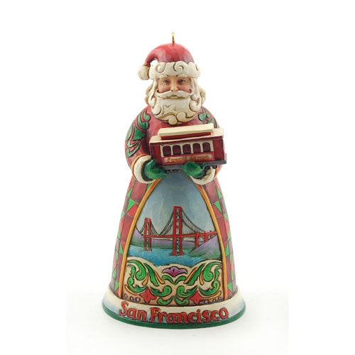 Jim Shore Jim Shore San Francisco Santa Ornament 4026382