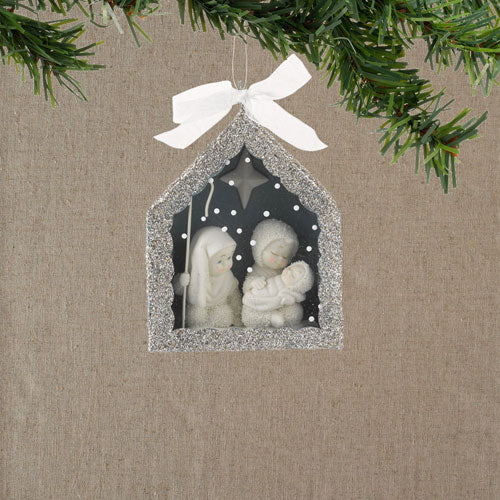 Snowbabies Nativity Shadow Box Ornament 4027355