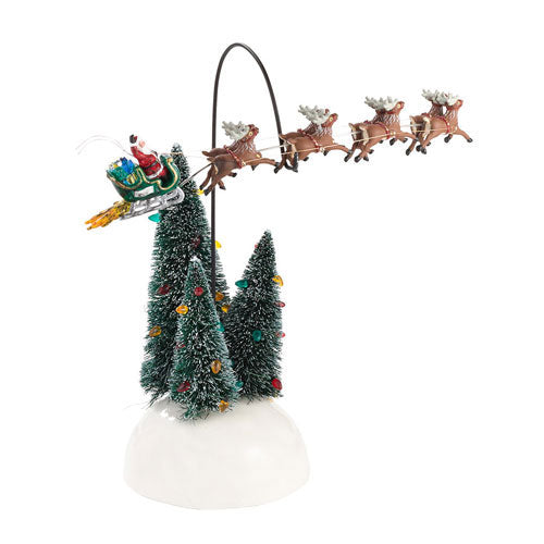 D56 Animated Flaming Sleigh 4030744