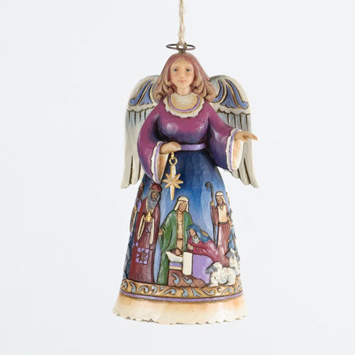 Jim Shore Angel With Nativity Skirt Ornament 4034406