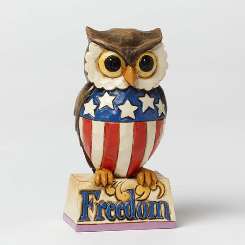 Jim Shore Mini Patriotic Owl 4040713
