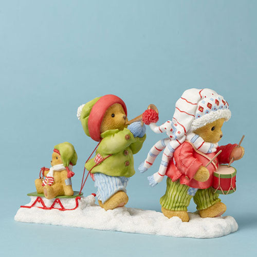 Cherished Teddies Lyndell & Kinsley Join Our Holly, Jolly 4042549