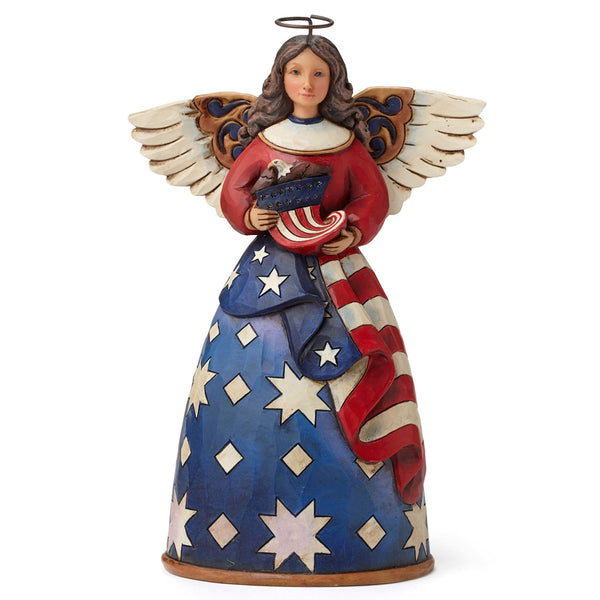 Jim Shore Patriotic Angel In Flag Dress 4044664