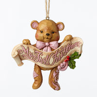 Jim Shore Baby's First Christmas Ornament (Girl) 4053851