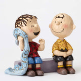 Jim Shore Charlie Brown & Linus Sidewalk 4054081